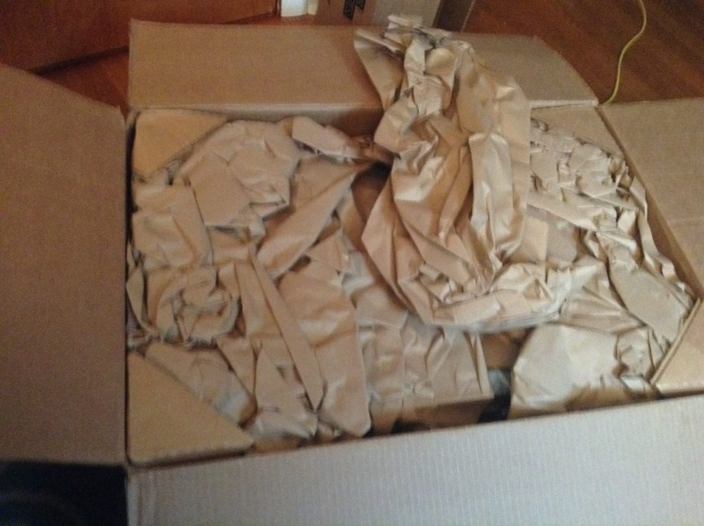 Different packing material than the last.