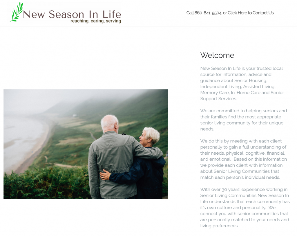 New Season in Life Homepage