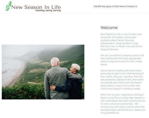 New Season in Life Homepage